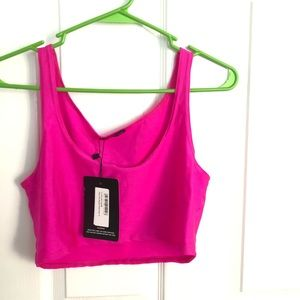 Cropped pink festival top